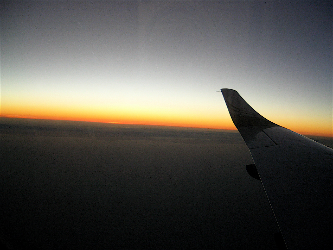 Flying home from Sydney